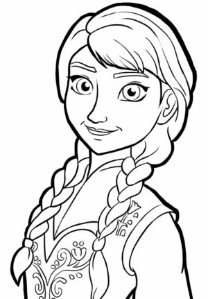 Disney Frozen Coloring Pages Princess Anna   37810