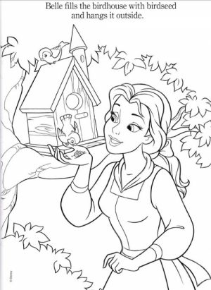 Disney Princess Coloring Pages of Belle for Girls   46280