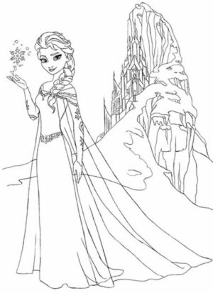 Disney Princess Elsa Coloring Pages Free to Print   21vxy