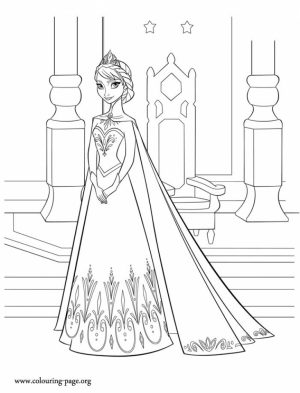 Disney Princess Elsa Coloring Pages Free to Print   5xrw3