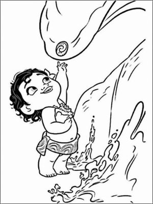 Disney Princess Moana Coloring Pages to Print   BN00M