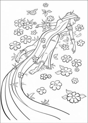 Disney Princess Rapunzel Coloring Pages   4B6N7