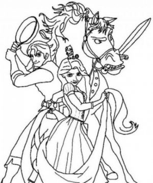 Disney Princess Rapunzel Coloring Pages   TX523B