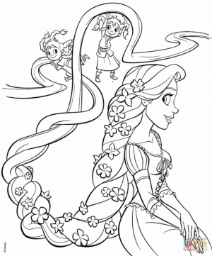 Disney Princess Tangled Coloring Pages   yfb41