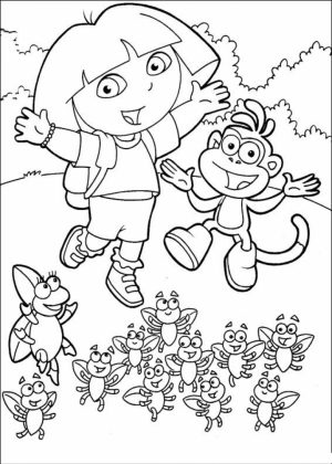 Dora The Explorer Coloring Pages Free Printable   u043e
