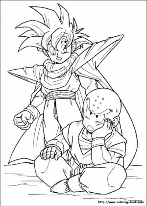 Dragon Ball Z Coloring Pages Free Printable   31376