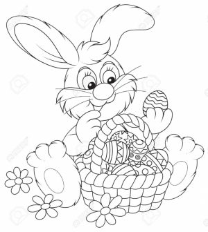 Easter Bunny Coloring Pages for Preschoolers   73610