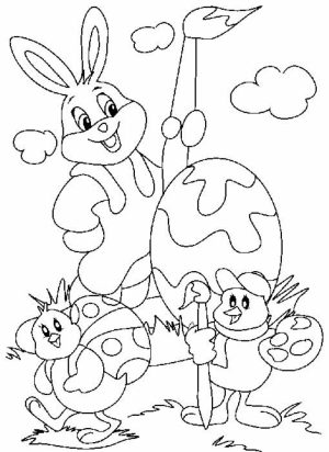 Easter Bunny Coloring Pages to Print   07740