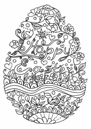 Easter Egg Hard Coloring Pages for Adults   29947