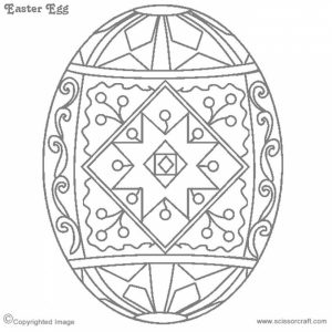 Easter Egg Hard Coloring Pages for Adults   70031