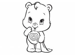 Easy Care Bear Coloring Pages for Preschoolers   9iz28
