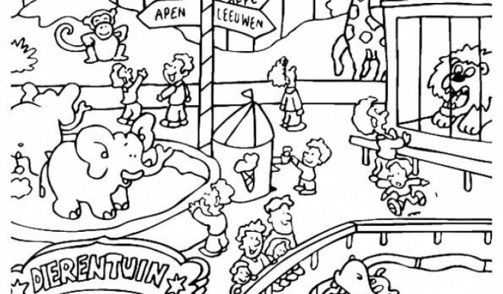 Get This Easy Preschool Printable of Zoo Coloring Pages ...