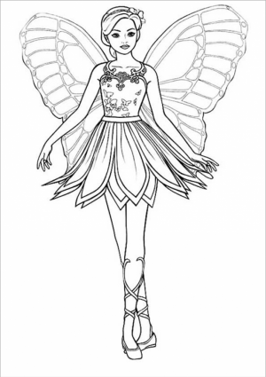Easy Printable Barbie Coloring Pages for Children   la4xx