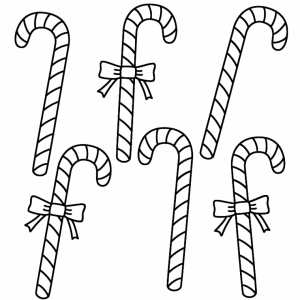 Easy Printable Candy Cane Coloring Page for Children   73604