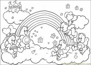 Easy Printable Care Bear Coloring Pages for Children   la4xx