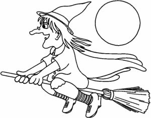 Easy Printable Witch Coloring Pages for Children   PTyqX