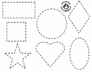 Easy Shapes Coloring Pages for Preschoolers   9iz28