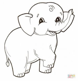 Elephant Coloring Pages for Preschoolers   17893