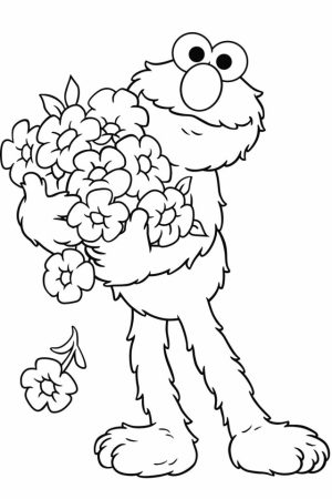 Elmo Coloring Pages Printable for Toddlers   58319