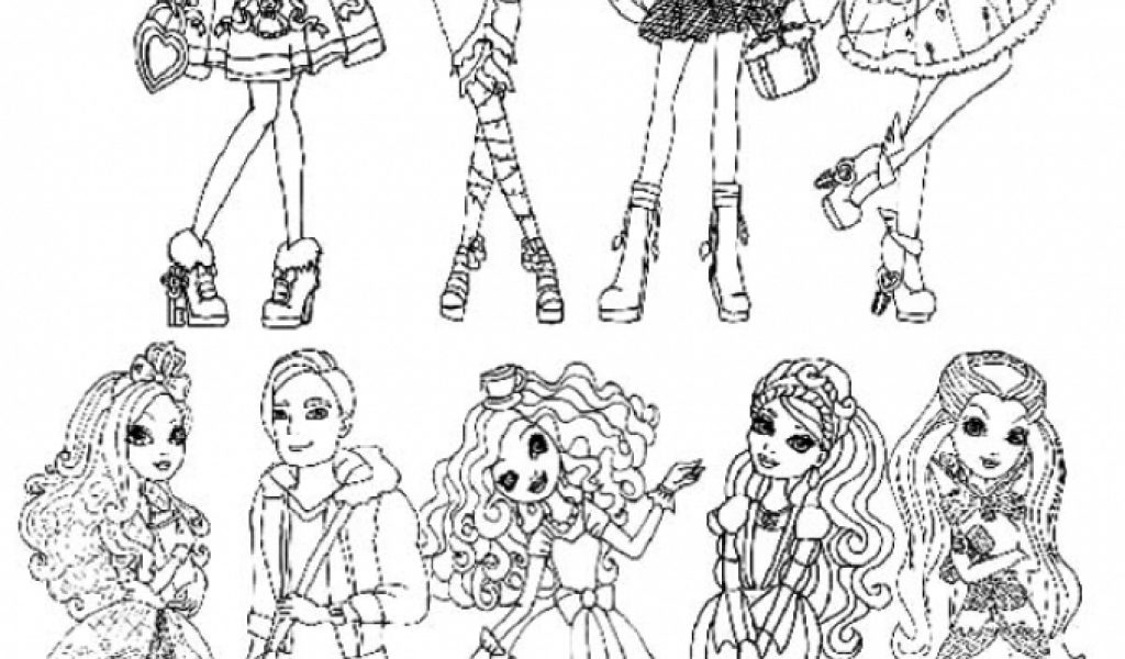Colouring Pages Ever After High Get This Coloring For Girls Fgt45