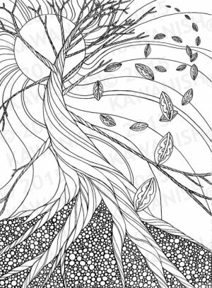 Fall Coloring Pages for Grown Ups Free Printable   prt97c