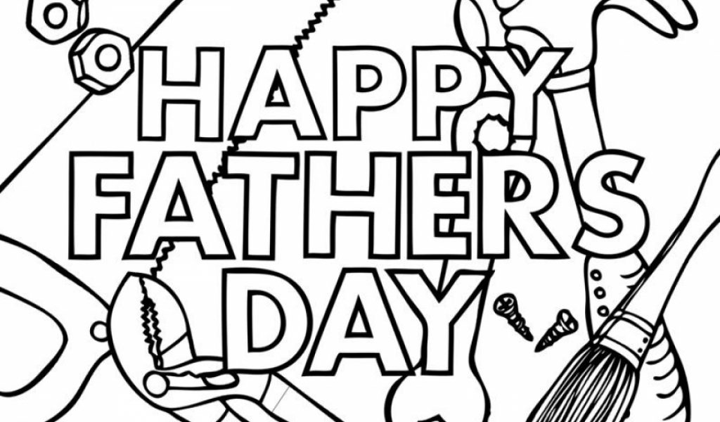 Free Fathers Day Coloring Pages Printable Eliolera