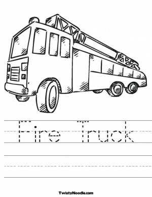 Fire Truck Coloring Pages Free to Print   54300