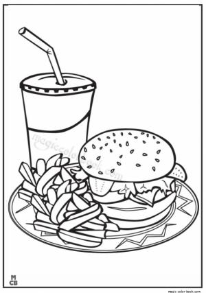Food Coloring Pages junk food   894nc
