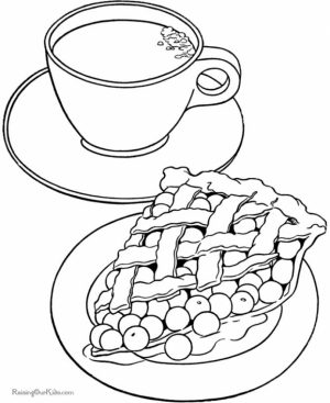 Food Coloring Pages tea and pie   lpec6