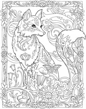 Fox Coloring Pages for Adults   ge6dm