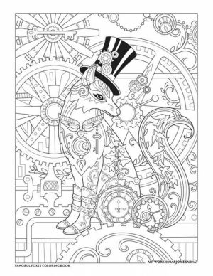 Fox Coloring Pages for Adults Printable   1abr6