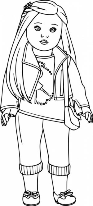 Free American Girl Coloring Pages to Print   rk86j