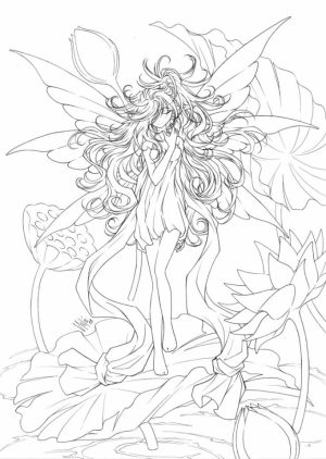 Free Angel Coloring Pages for Adults   8bv54