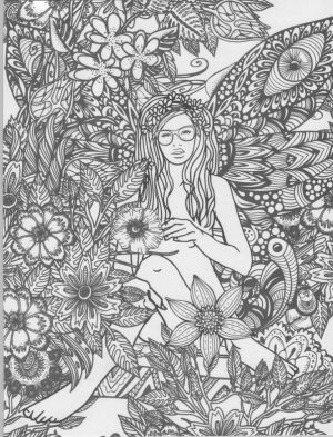 Free Angel Coloring Pages for Adults   923XOP