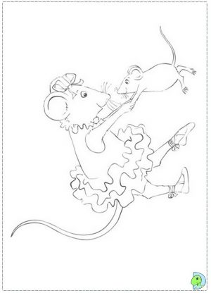 Free Angelina Ballerina Coloring Pages   5707