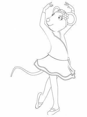 Free Angelina Ballerina Coloring Pages to Print   194510
