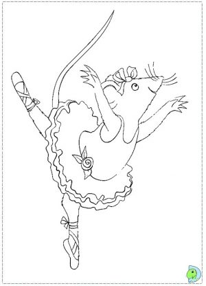 Free Angelina Ballerina Coloring Pages to Print   754982