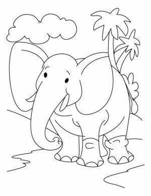 Free Baby Elephant Coloring Pages for Preschoolers   856321