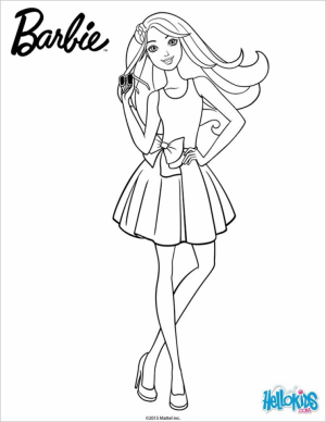 Free Barbie Coloring Pages for Toddlers   p97hr
