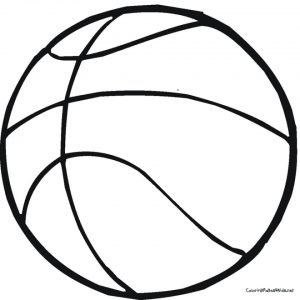 Free Basketball Coloring Pages   119160