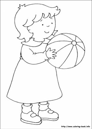 Free Caillou Coloring Pages   9tf1q