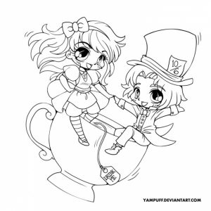 Free Chibi Coloring Pages for Toddlers   4JGO1