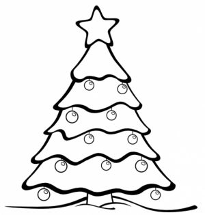 Free Christmas Tree Coloring Pages   72942