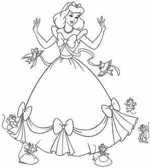 Free Cinderella Coloring Pages   56951