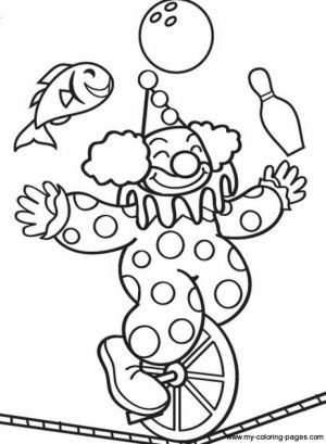 Free Circus Coloring Pages   92377
