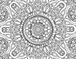 Free Complex Coloring Pages to Print for Adults   XY4B6