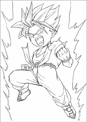 Free DBZ Coloring Pages   75908