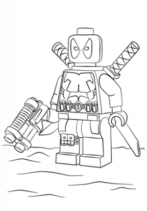 Free Deadpool Coloring Pages   834913