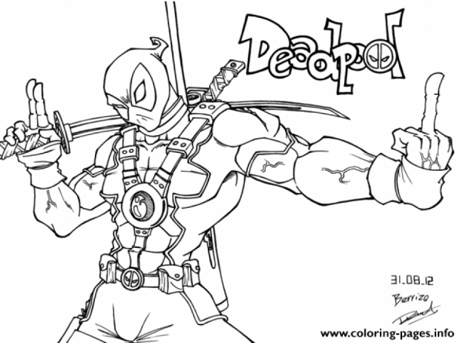 Get This Printable Deadpool Coloring Pages Online 781016: Get This Free Deadpool Coloring Pages To Print 194512