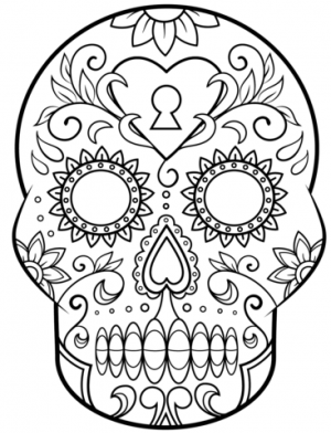 Free Dia De Los Muertos Coloring Pages to Print   590f14